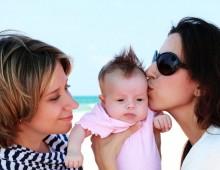 happy lesbo family
